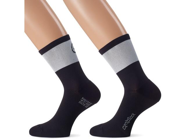 assos CentoSocks_Evo8 Cykelstrømper Unisex grå/sort | Socks